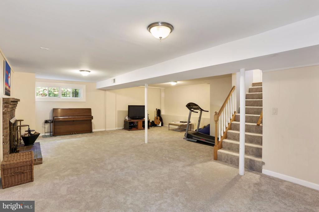 Accommodating Recreational room at Basement. - 203 TAPAWINGO RD SE, VIENNA