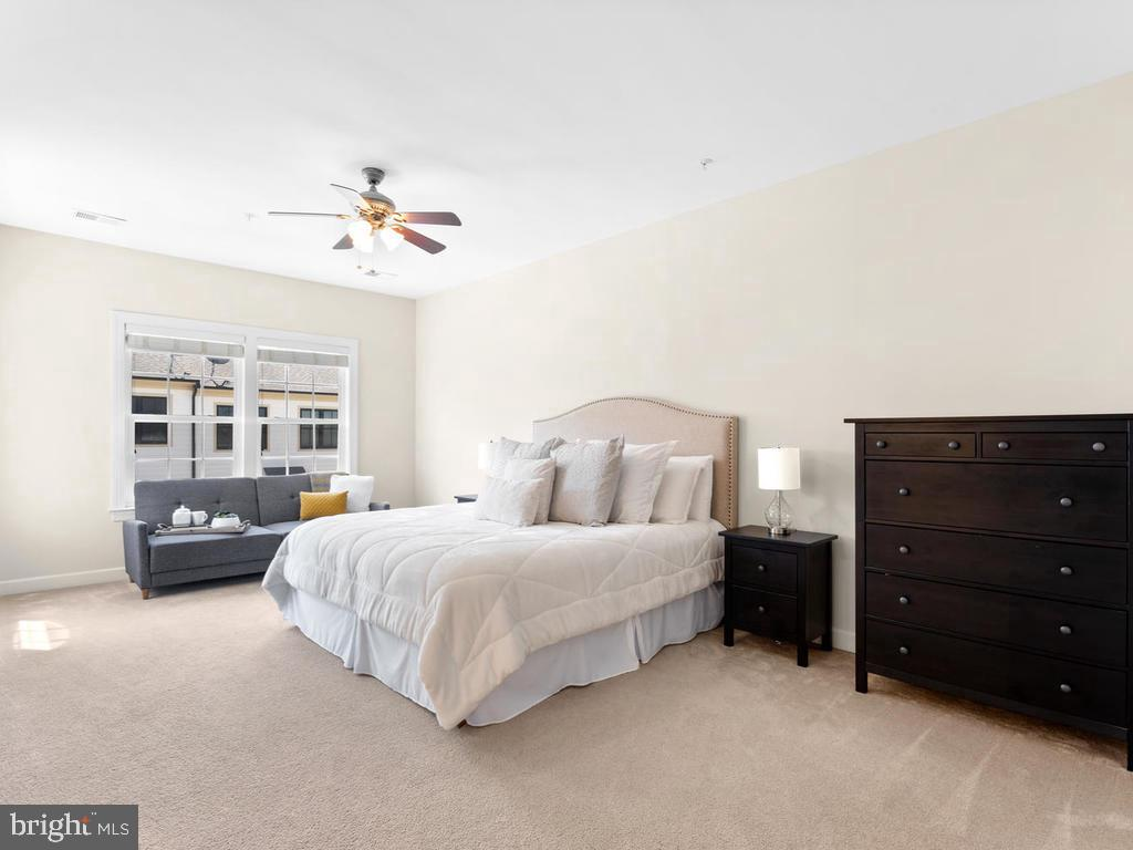 Master Bedroom with En Suite Bathroom and Bump Out - 8903 AMELUNG ST, FREDERICK