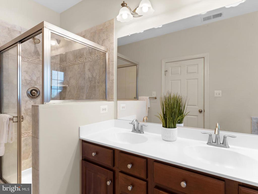 Master Bathroom with Soaking Tub and Shower - 8903 AMELUNG ST, FREDERICK
