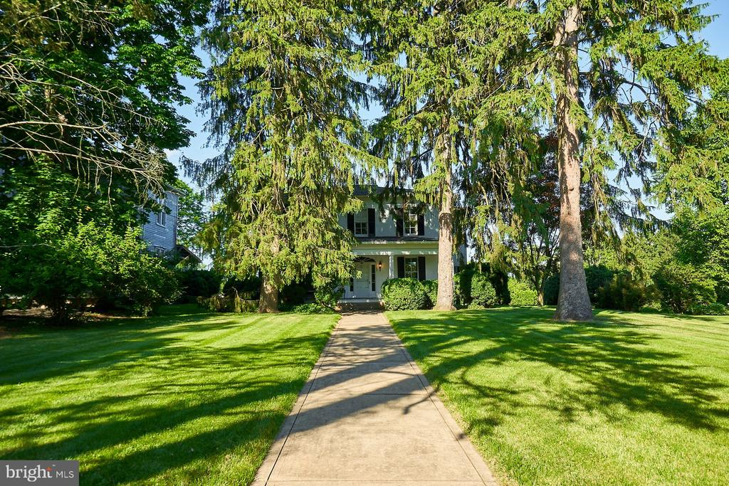 Front Lawn with Beautiful Evergreen Trees - 635 S SAMUEL, CHARLES TOWN