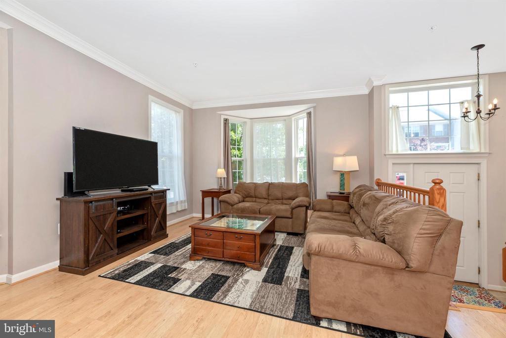 LIVING ROOM W/ CROWN MOLDING - 301 GREEN FERN CIR, BOONSBORO