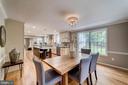 Open to gourmet kitchen - 5696 GAINES ST, BURKE