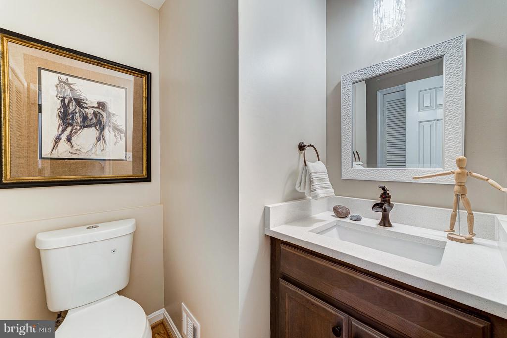 1/2 bath on main level - 5696 GAINES ST, BURKE