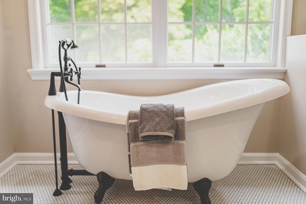 Soak the day's stress away in this claw foot tub - 5696 GAINES ST, BURKE