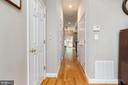 Hall to Kitchen and Patio - 1839 9TH ST NW, WASHINGTON