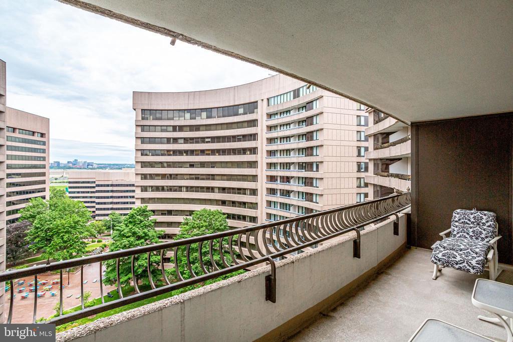 rear balcony - 1300 CRYSTAL DR #1306S, ARLINGTON