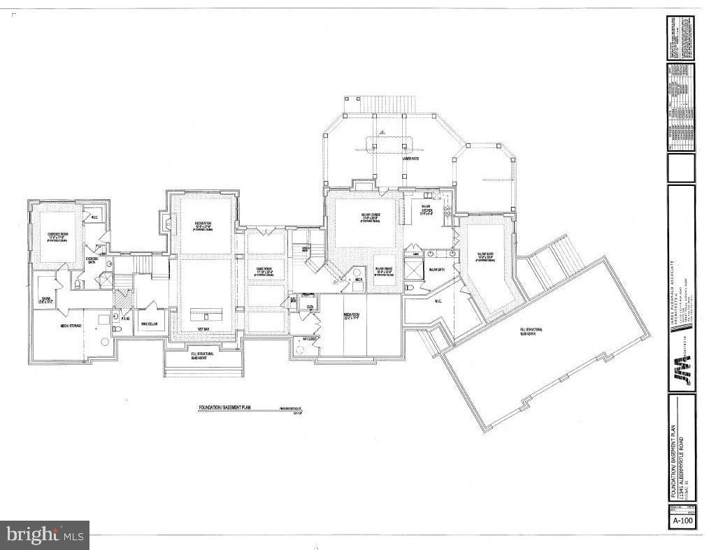 Lower Level Floor Plan - 11345 ALBERMYRTLE RD, POTOMAC