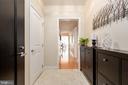 Marble entrance foyer - 7710 WOODMONT AVE #802, BETHESDA