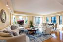 Large combination living and dining area - 7710 WOODMONT AVE #802, BETHESDA