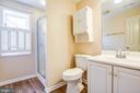 Downstairs bathroom - new flooring - 208 OLD LANDING CT, FREDERICKSBURG