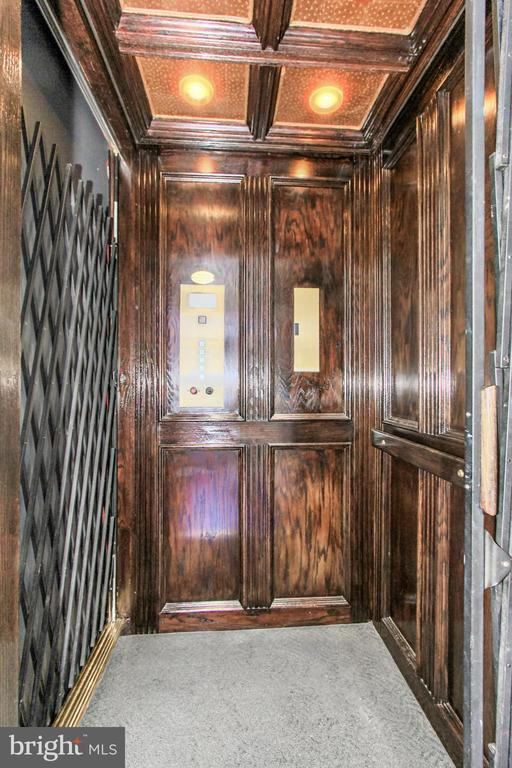 Mahogany Paneled Elevator to all floors - 1303 14TH ST N, ARLINGTON