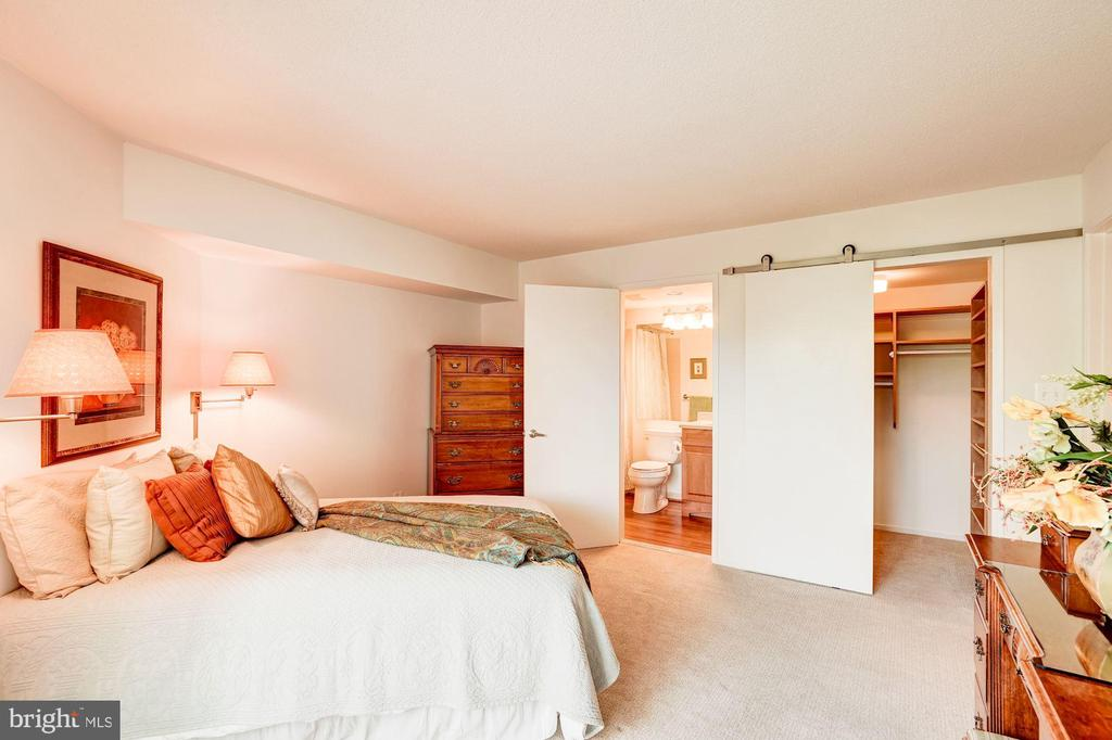 New Barn Door and updated bath - 1951 SAGEWOOD LN #315, RESTON