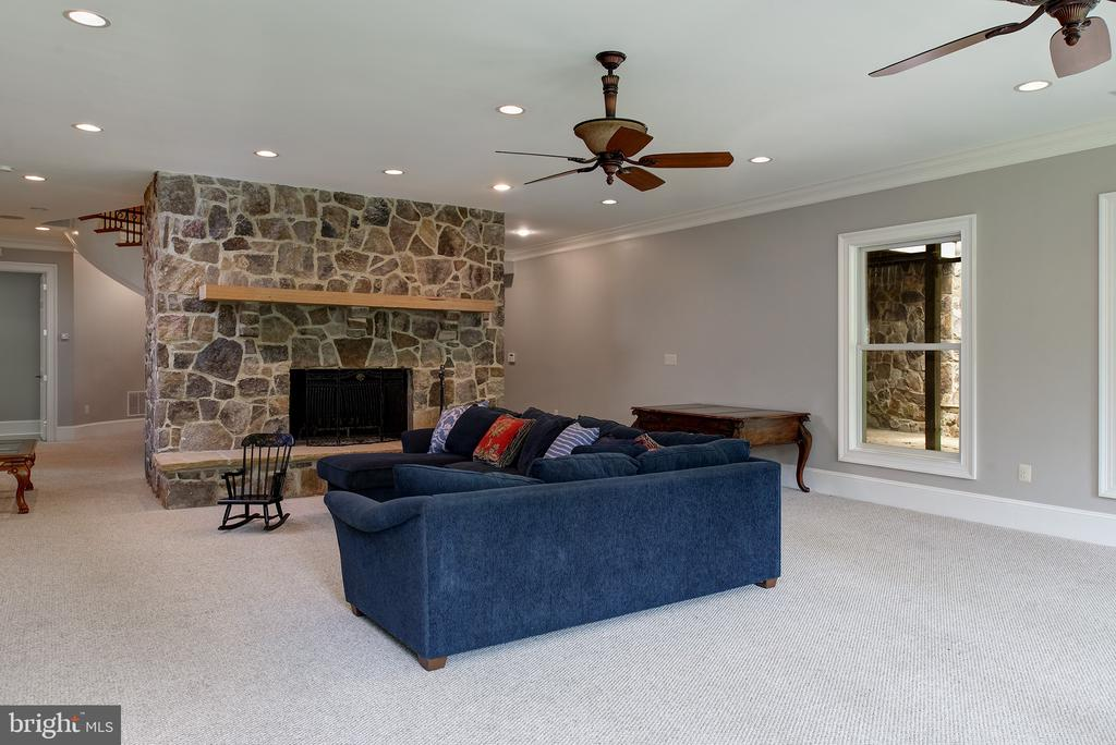 The recreation room is very bright with light - 41430 FOX CREEK LN, LEESBURG