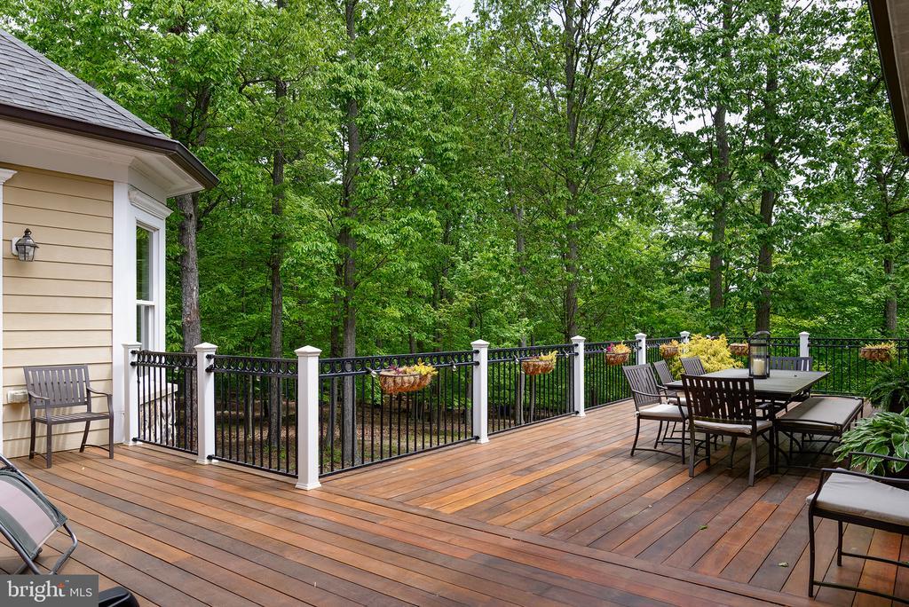 The mahogany deck has several access points - 41430 FOX CREEK LN, LEESBURG