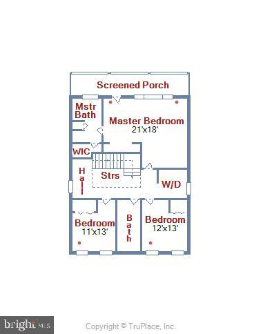 Floor Plan- upper level - 4707 FORDHAM RD, COLLEGE PARK