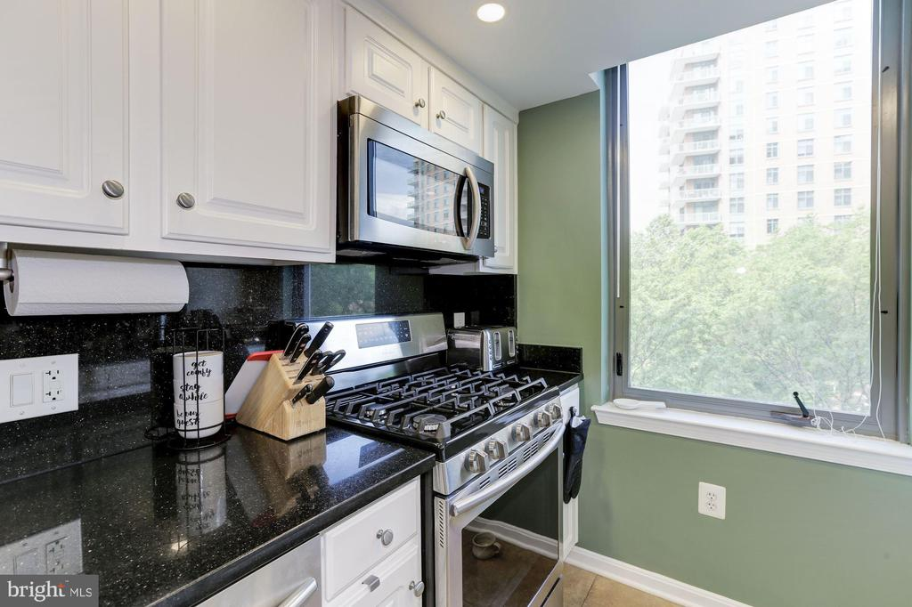 Kitchen with granite counters (2020) - 11710 OLD GEORGETOWN RD #317, ROCKVILLE