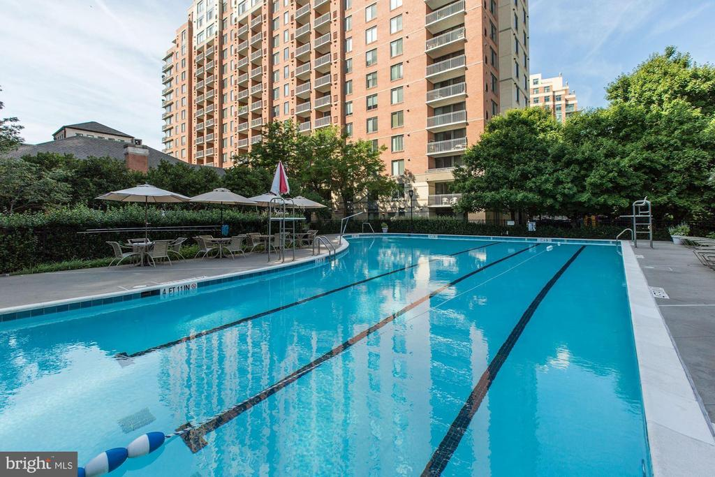 Outdoor swimming pool - 11710 OLD GEORGETOWN RD #317, ROCKVILLE