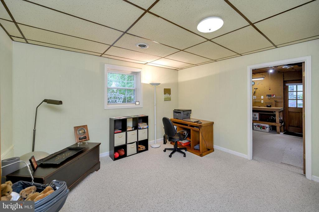 Lower level bedroom 3 with window and closet - 508 GLENEAGLE DR, FREDERICKSBURG