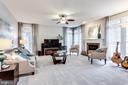 Huge main floor family room with gas fireplace - 11016 DORSCH FARM RD, ELLICOTT CITY