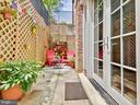 Private patio - 3350 17TH ST NW #T2, WASHINGTON