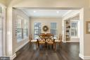 The home has gleaming wood floors - 17076 SILVER ARROW DR, DUMFRIES