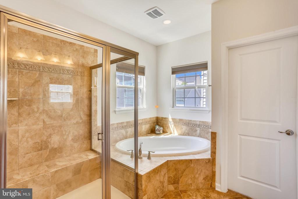 Master Bathroom with shower & soaking tub - 22362 BRIGHT SKY DR, CLARKSBURG