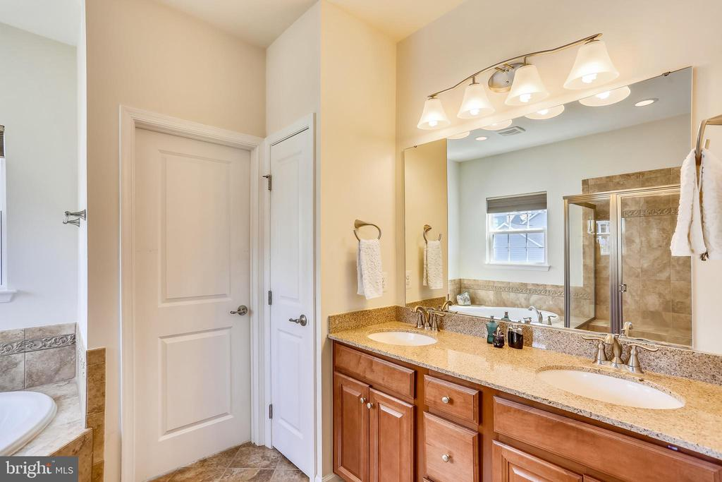 Elegant Master  Bath with double vanity - 22362 BRIGHT SKY DR, CLARKSBURG