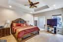 Master Bedroom with Tray ceiling - 22362 BRIGHT SKY DR, CLARKSBURG