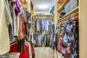 Master Bedroom walk-in closet with organizers - 22362 BRIGHT SKY DR, CLARKSBURG