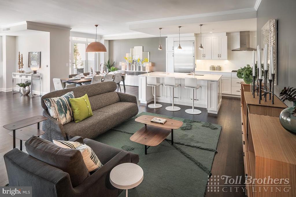 Living Room - 4915 HAMPDEN LN #504, BETHESDA