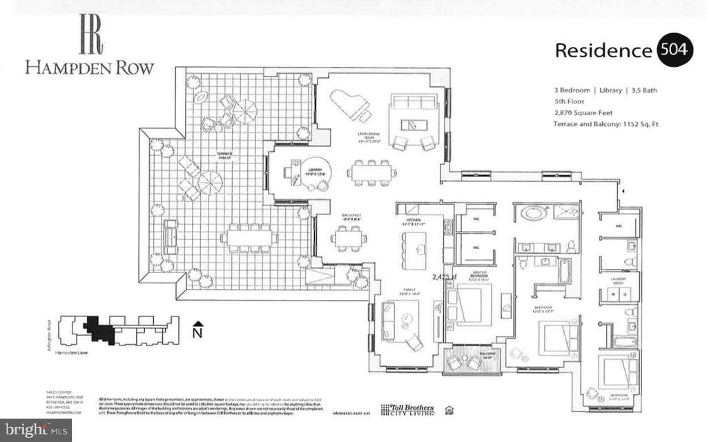 floorplan - 4915 HAMPDEN LN #504, BETHESDA