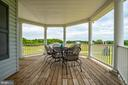 Large 8' wide Covered porch with eating space - 160 WILLOWDALE LN, FREDERICKSBURG