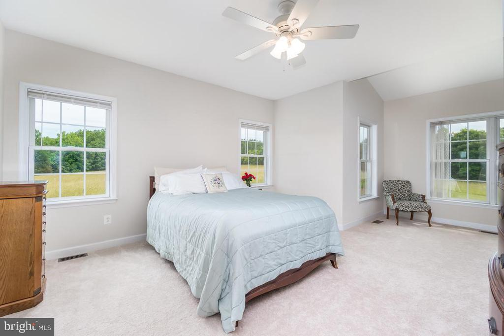 Master bedroom on the main level with sitting area - 160 WILLOWDALE LN, FREDERICKSBURG