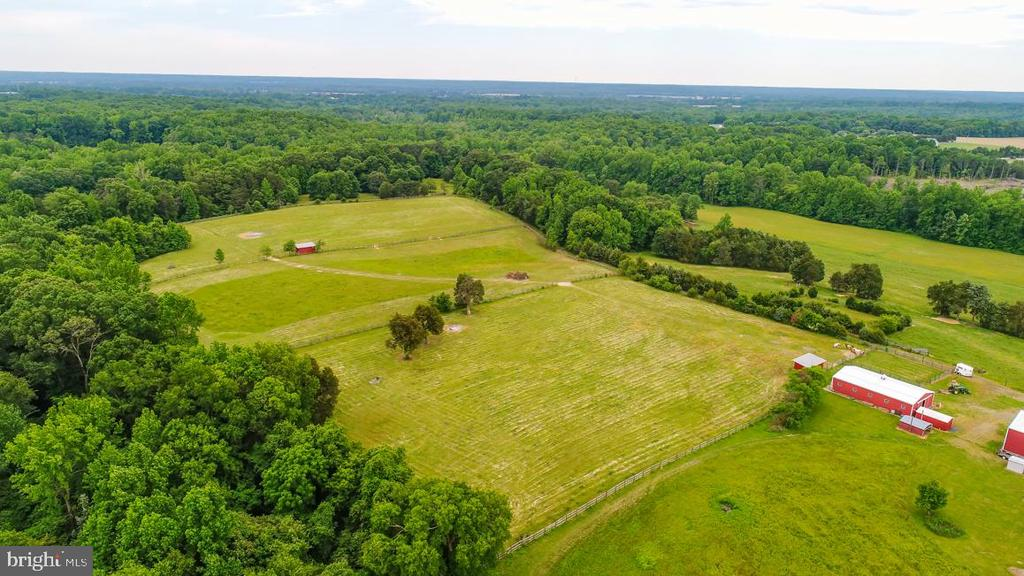 A view of the horse paddocks - 160 WILLOWDALE LN, FREDERICKSBURG