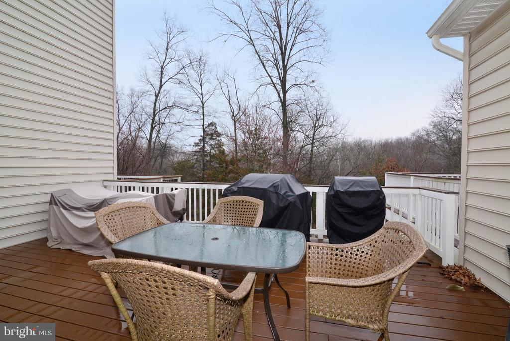 Huge Private Trex Deck backs to green space - 43275 MITCHAM SQ, ASHBURN