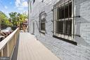Large side deck, accessed from the kitchen - 1122 6TH ST NE, WASHINGTON