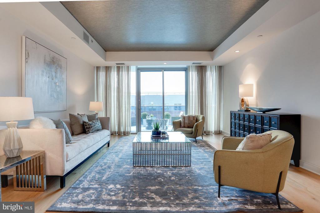 Grand entertainment living room - 1881 N NASH ST #804, ARLINGTON