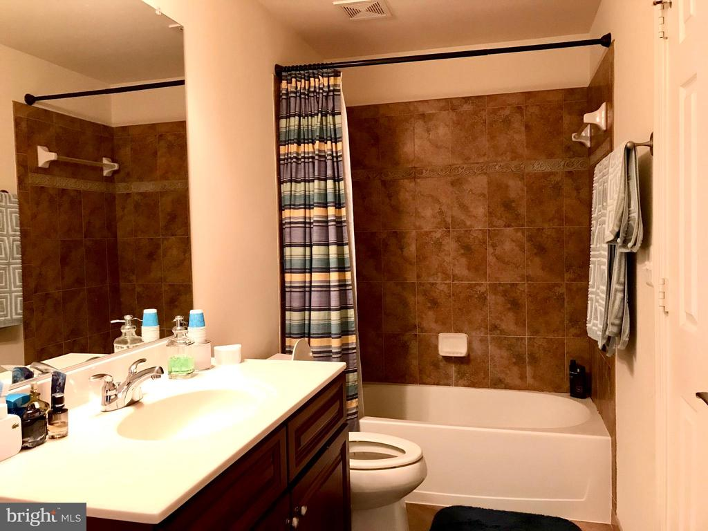 Full upgraded bathroom in basement - 14414 BROADWINGED DR, GAINESVILLE