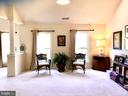 Master bed sitting area with double sided fireplac - 14414 BROADWINGED DR, GAINESVILLE