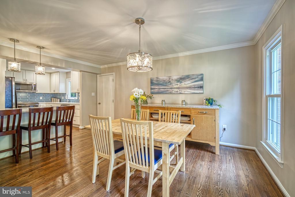Gorgeous open dining room to kitchen - 9631 BOYETT CT, FAIRFAX