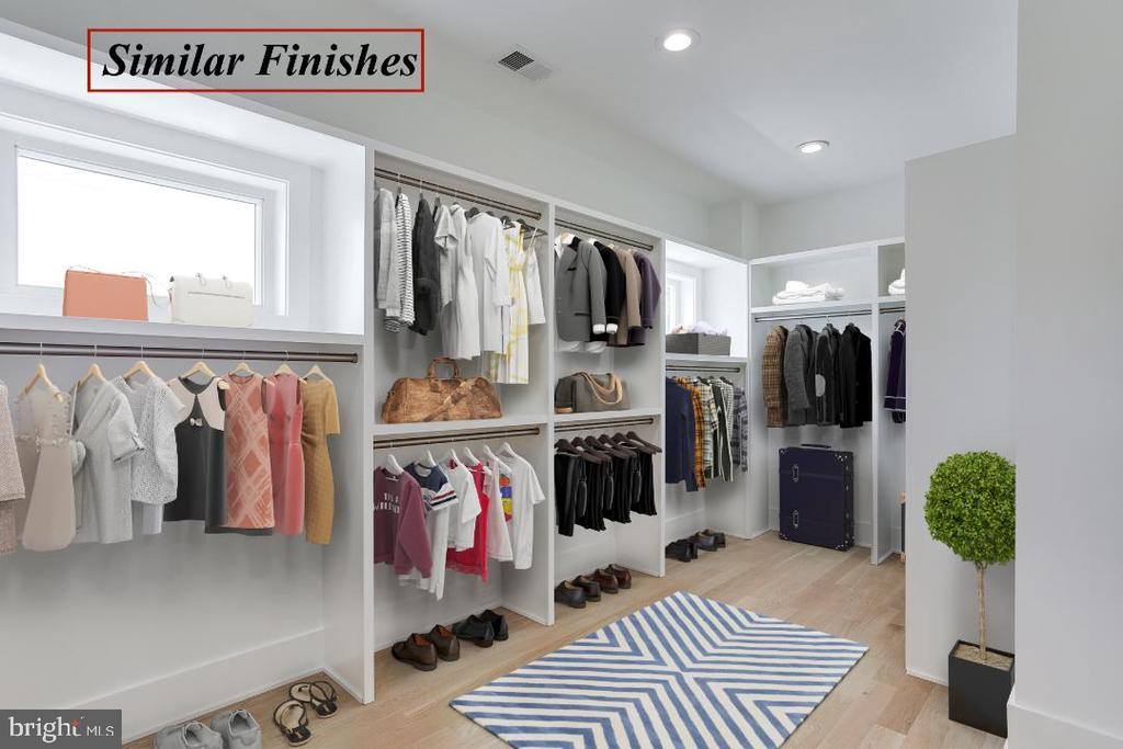 Master Closet is a Similar Model - 602 MEADOW LN SW, VIENNA