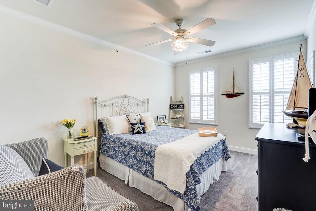 All bedrooms have ceiling fans & carpet - 23631 HAVELOCK WALK TER #420, ASHBURN