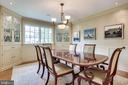 Dining Room with Lit Custom Cabinetry - 4501 35TH RD N, ARLINGTON