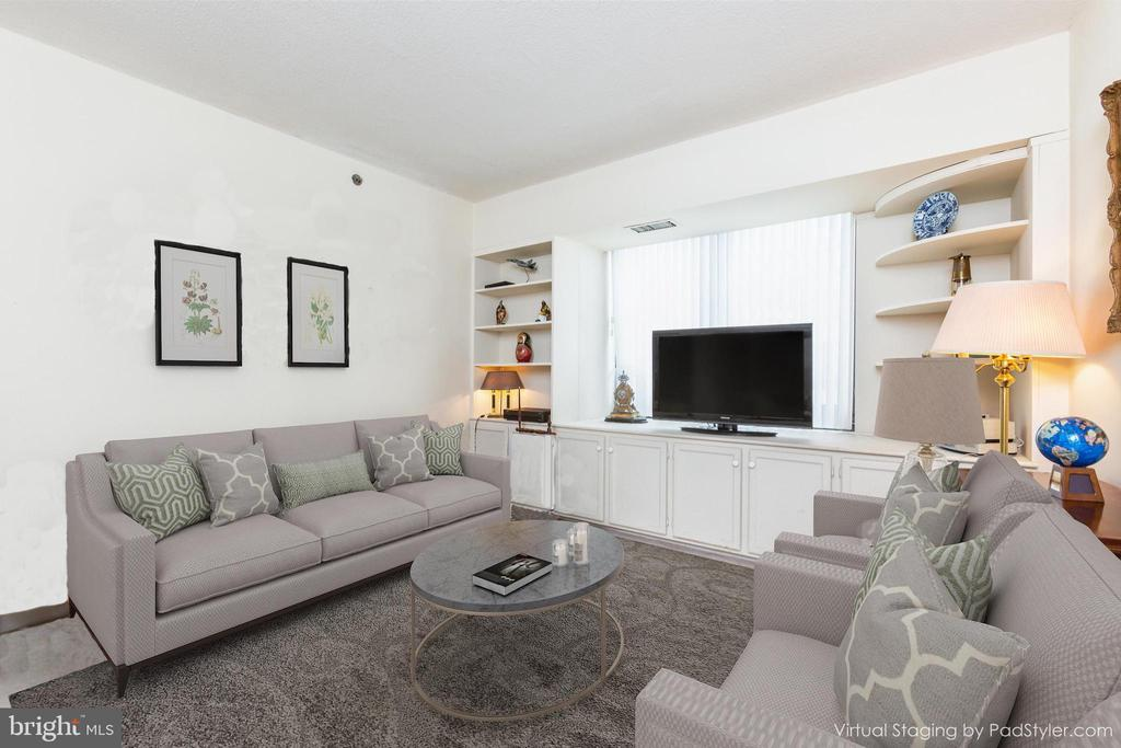 Transitional Virtual Styling of Fam Rm or Bed 3 - 1200 CRYSTAL DRIVE #1413-1414, ARLINGTON