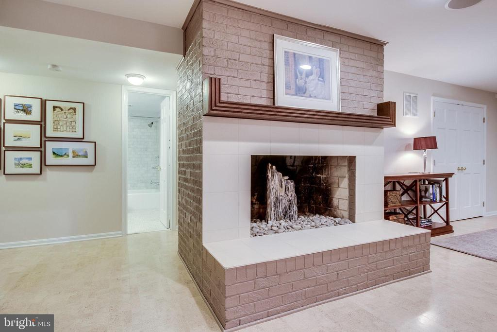 Lower Level Wood Burning Fireplace - 4501 35TH RD N, ARLINGTON