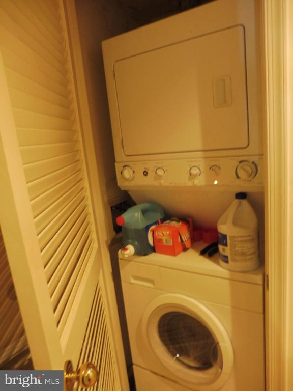 Stacked washer/dryer - 3720 39TH ST NW #A163, WASHINGTON