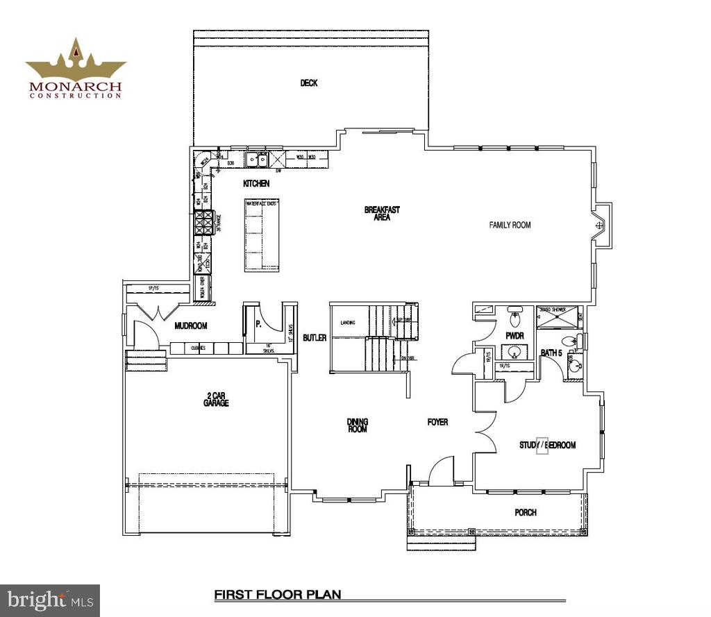 1st Floor Plan of 602 Meadow Lane - 602 MEADOW LN SW, VIENNA