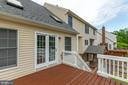 Spacious Deck w/French Doors to Huge Family Room - 11 NASSAU CT, STAFFORD