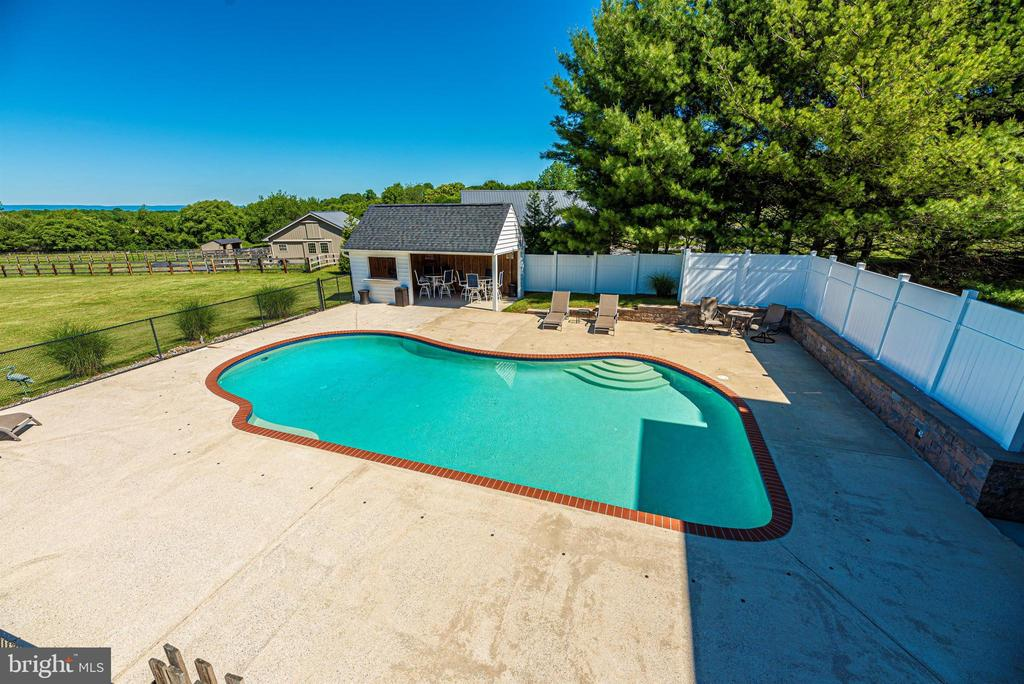Exterior Rear Pool Area - 6156 WOODVILLE RD, MOUNT AIRY