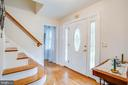 foyer with cascading staircase - 413 COLLINGWOOD DR, FREDERICKSBURG